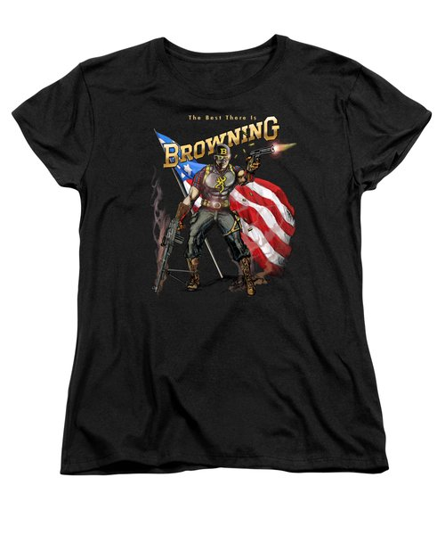 Captain Browning Women's T-Shirt (Standard Cut) by Rob Corsetti