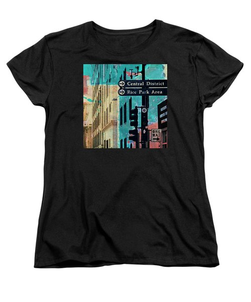 Women's T-Shirt (Standard Cut) featuring the photograph Central District by Susan Stone