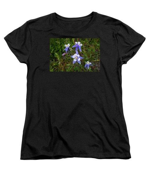 Women's T-Shirt (Standard Cut) featuring the photograph Colorado Columbine by Steve Stuller