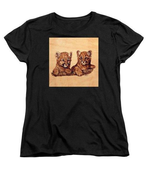 Cougar Cubs Women's T-Shirt (Standard Cut) by Ron Haist