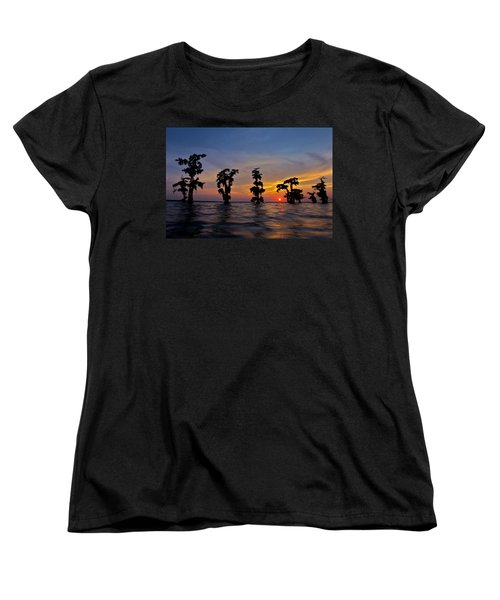Cypress Trees Women's T-Shirt (Standard Cut) by Evgeny Vasenev