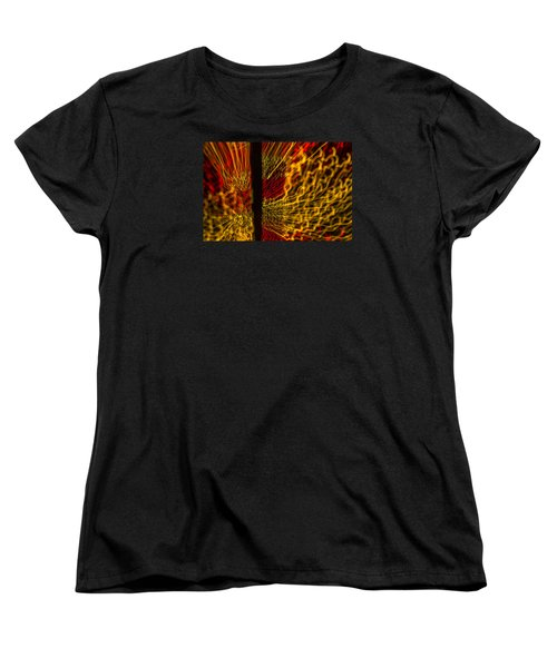 Dancing Lights 5  Women's T-Shirt (Standard Cut) by Penny Lisowski
