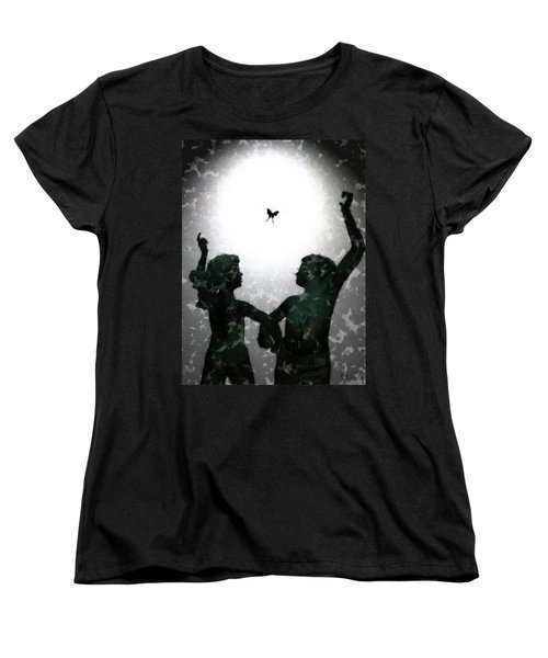 Women's T-Shirt (Standard Cut) featuring the digital art Dancing Silhouettes by Holly Ethan