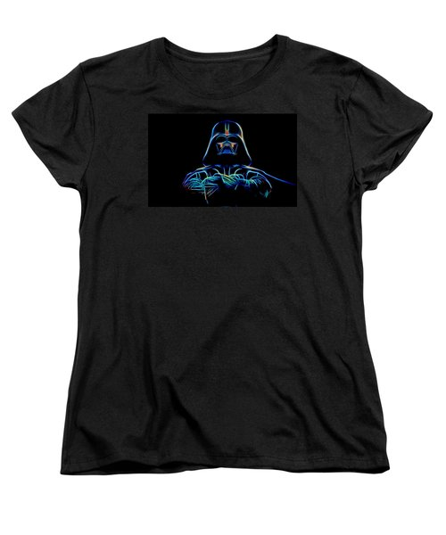 Women's T-Shirt (Standard Cut) featuring the digital art Darth Vader by Aaron Berg