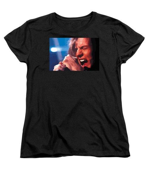 Eddie Vedder Women's T-Shirt (Standard Cut) by Gordon Dean II