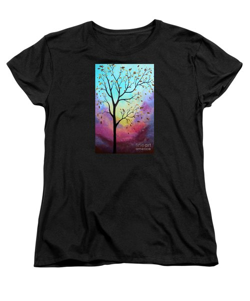 Women's T-Shirt (Standard Cut) featuring the painting Enchanted Aura by Stacey Zimmerman