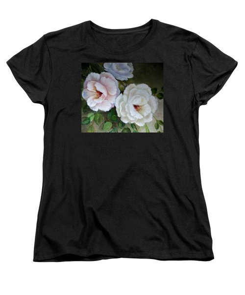 Women's T-Shirt (Standard Cut) featuring the painting Etre Fleur  by Patricia Schneider Mitchell