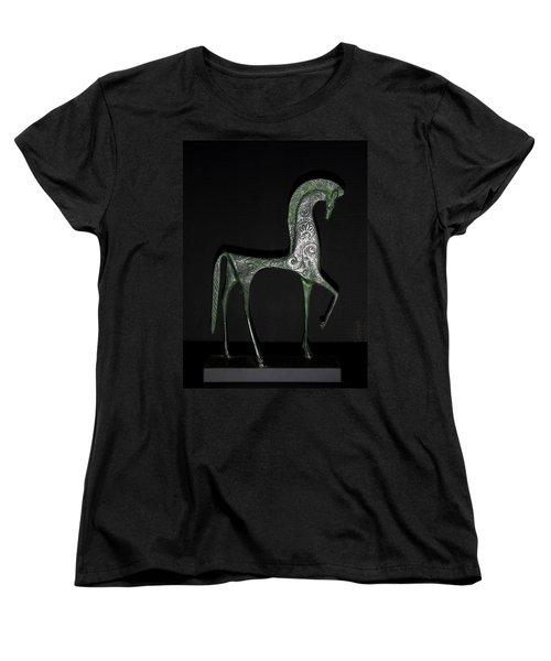 Etruscan Horse Women's T-Shirt (Standard Cut) by Stephanie Moore