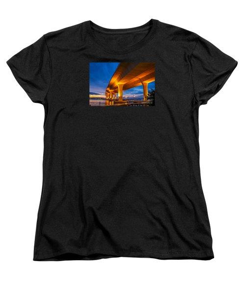 Evening On The Boardwalk Women's T-Shirt (Standard Cut) by Tom Claud