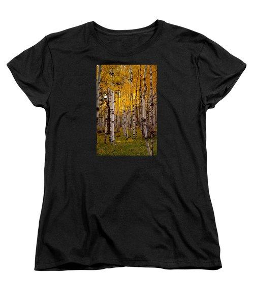 Fall At Snowbowl Women's T-Shirt (Standard Cut) by Tom Kelly