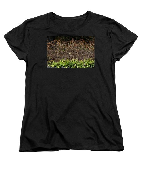 Women's T-Shirt (Standard Cut) featuring the photograph Fall Contrasts by Deborah  Crew-Johnson