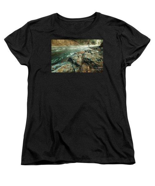 Women's T-Shirt (Standard Cut) featuring the photograph Fishing Day by Iris Greenwell