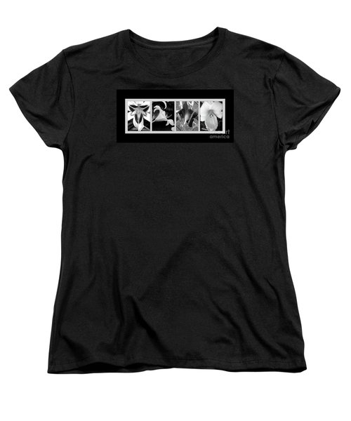 Floral Collage Women's T-Shirt (Standard Cut) by Sue Stefanowicz