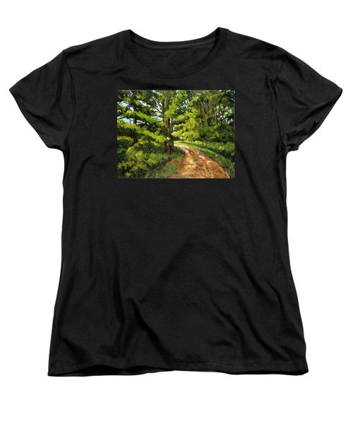 Forest Pathway Women's T-Shirt (Standard Cut) by Alexandra Maria Ethlyn Cheshire