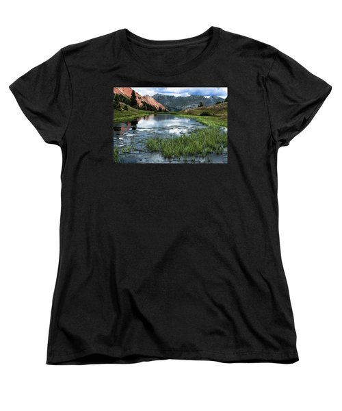 Women's T-Shirt (Standard Cut) featuring the photograph Grey Copper Gulch by Jay Stockhaus