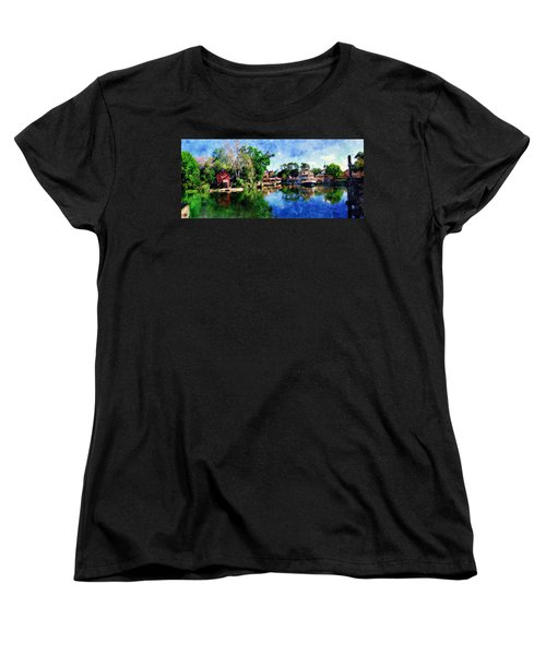 Women's T-Shirt (Standard Cut) featuring the digital art Harper's Mill by Sandy MacGowan