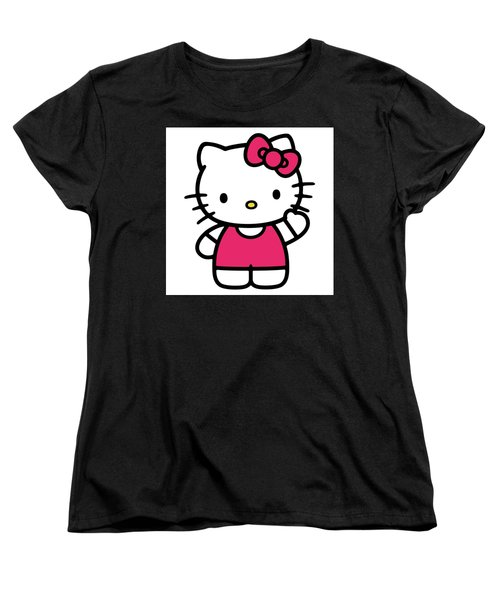 Hkitty Women's T-Shirt (Standard Cut) by David Lane