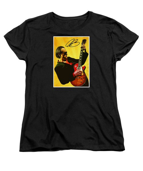 Joe Bonamassa Women's T-Shirt (Standard Cut) by Semih Yurdabak