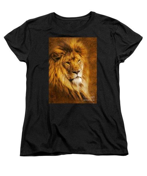 Women's T-Shirt (Standard Cut) featuring the digital art King Of The Beasts by Ian Mitchell