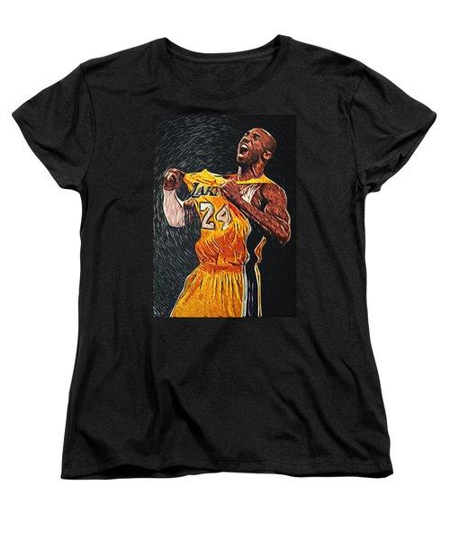 Kobe Bryant Women's T-Shirt (Standard Cut) by Taylan Apukovska