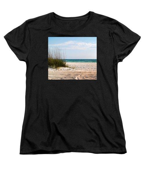 Women's T-Shirt (Standard Cut) featuring the photograph Lido Beach by Athala Carole Bruckner