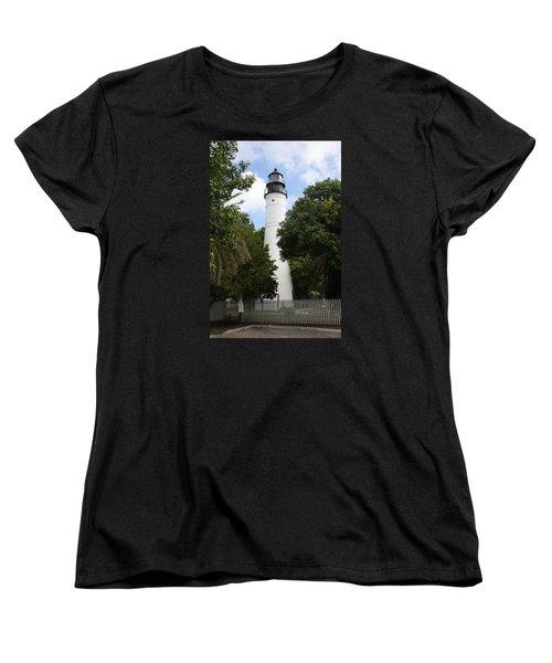 Lighthouse - Key West Women's T-Shirt (Standard Cut) by Christiane Schulze Art And Photography
