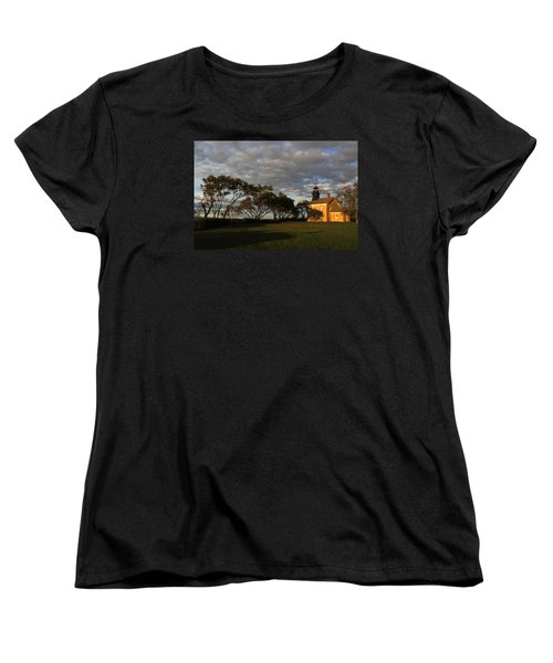 Lighthouse Old Field Point New York Women's T-Shirt (Standard Cut) by Bob Savage
