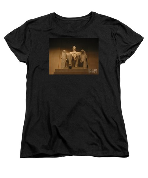 Lincoln Memorial Women's T-Shirt (Standard Cut) by Brian McDunn