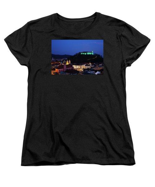 Ljubljana Castle Women's T-Shirt (Standard Cut)