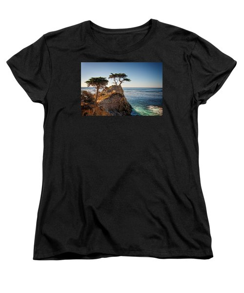 Lone Cypress Tree Women's T-Shirt (Standard Cut) by James Hammond