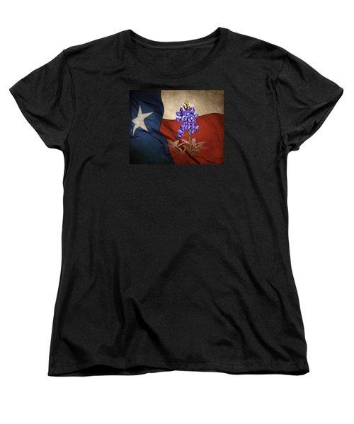 Lone Star Bluebonnet Women's T-Shirt (Standard Cut) by David and Carol Kelly