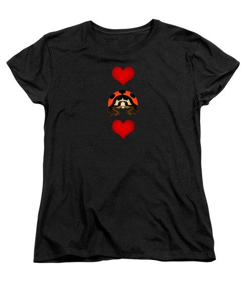 Love Bug Vertical Women's T-Shirt (Standard Cut) by Sarah Greenwell
