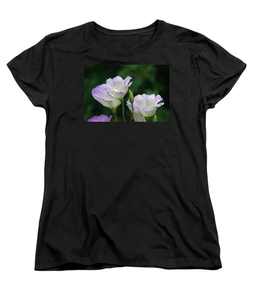 Women's T-Shirt (Standard Cut) featuring the photograph Lovely Lisianthus by Byron Varvarigos