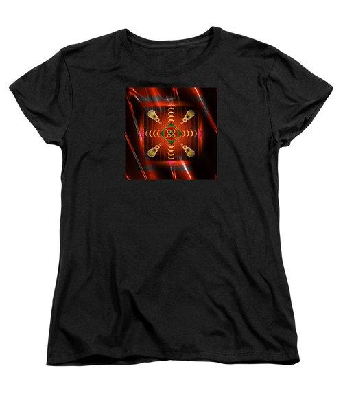 Women's T-Shirt (Standard Cut) featuring the digital art Mandala Burning by Mario Carini