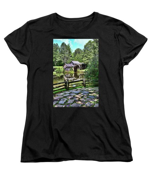 Women's T-Shirt (Standard Cut) featuring the photograph Marby Mill Pathway by Paul Ward