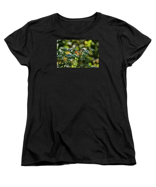 Women's T-Shirt (Standard Cut) featuring the photograph Monarch by Rick Friedle