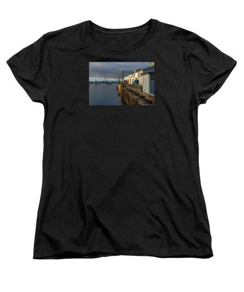 Monterey Commercial Wharf Women's T-Shirt (Standard Cut) by Derek Dean