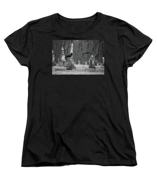 Murder Of Crows Women's T-Shirt (Standard Cut) by Rowana Ray
