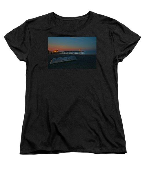 Ocean City  N J Sunrise Women's T-Shirt (Standard Cut) by Allen Beatty