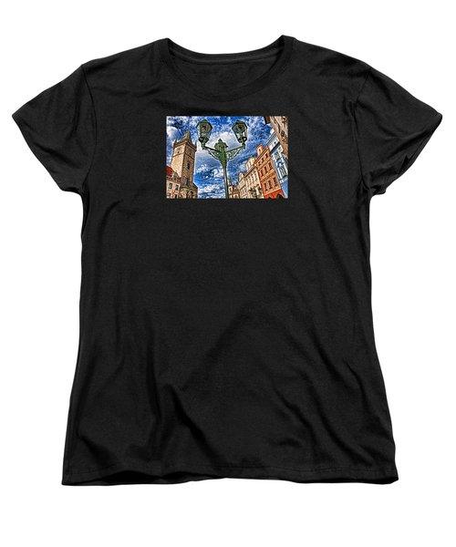 Old Town Prague  Women's T-Shirt (Standard Cut) by Dennis Cox WorldViews