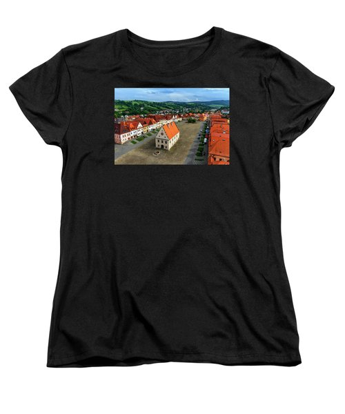Old Town Square In Bardejov, Slovakia Women's T-Shirt (Standard Cut) by Elenarts - Elena Duvernay photo