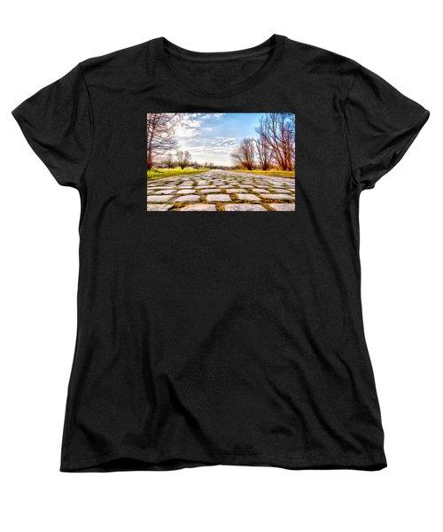 Women's T-Shirt (Standard Cut) featuring the photograph Olimpia Park - Munich by Sergey Simanovsky