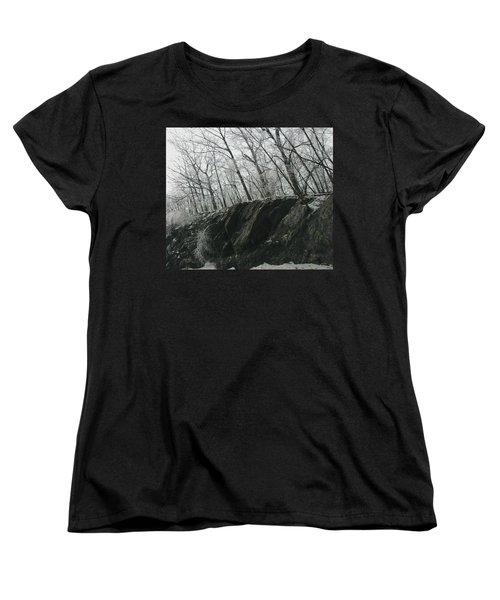 Women's T-Shirt (Standard Cut) featuring the photograph Out Of The Rocks by Ellen Levinson