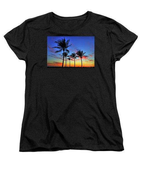 Women's T-Shirt (Standard Cut) featuring the photograph Palm Tree Skies by Scott Mahon