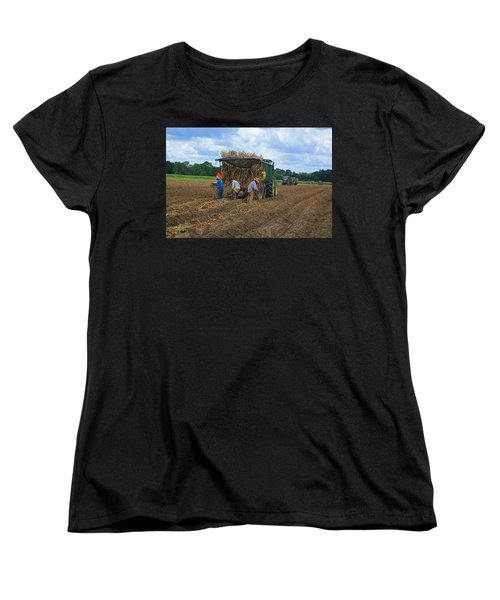 Planting Sugarcane Women's T-Shirt (Standard Cut) by Ronald Olivier
