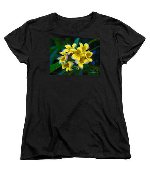 Women's T-Shirt (Standard Cut) featuring the photograph 1- Plumeria Perfection by Joseph Keane