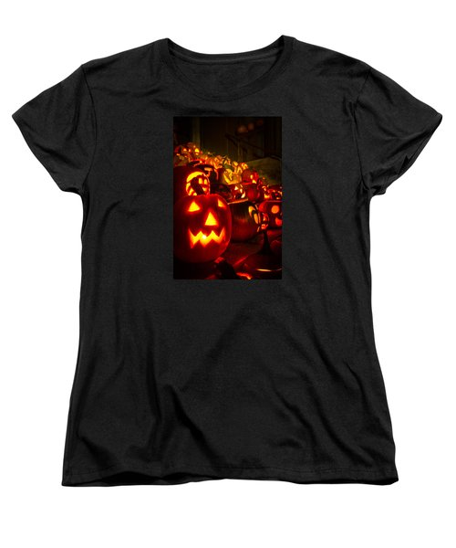 Women's T-Shirt (Standard Cut) featuring the photograph Pumpkinfest 2015 by Robert Clifford