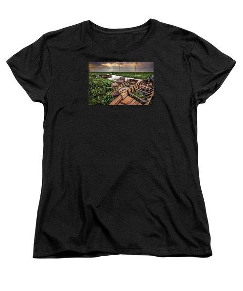 Women's T-Shirt (Standard Cut) featuring the photograph Rest Of Boat by Arik S Mintorogo