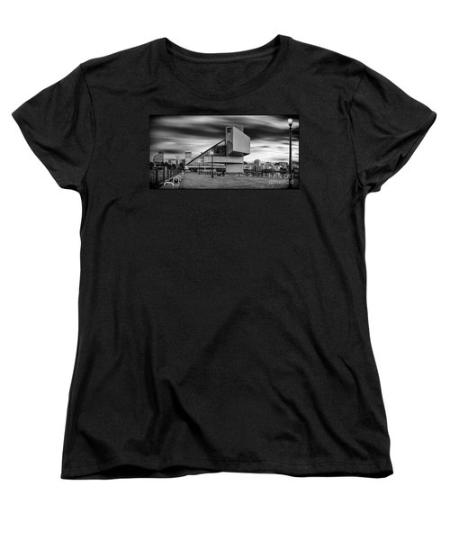 Rock And Roll Hall Of Fame  Women's T-Shirt (Standard Cut) by James Dean