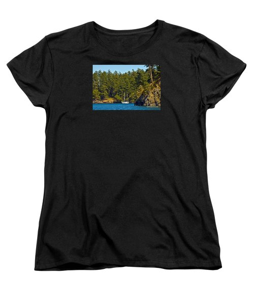Secluded Anchorage Women's T-Shirt (Standard Cut) by Chuck Flewelling